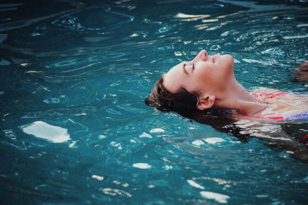 Seattle hydrafacial – woman in pool
